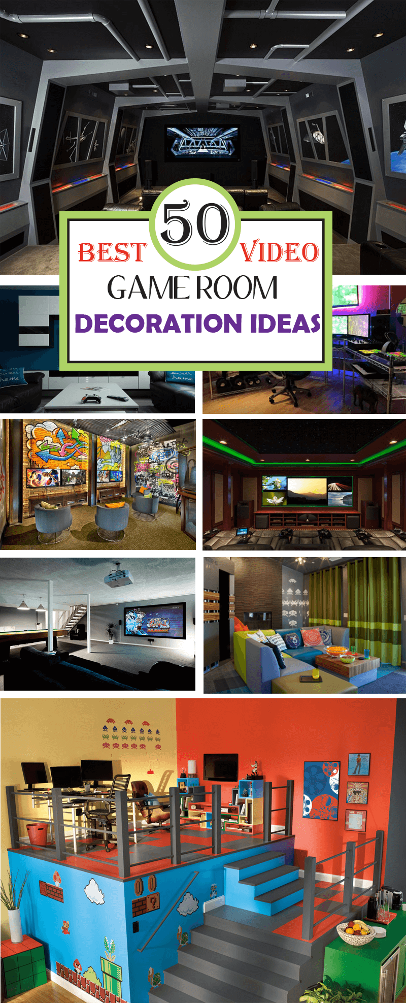 Video Game Room Decoration Ideas
