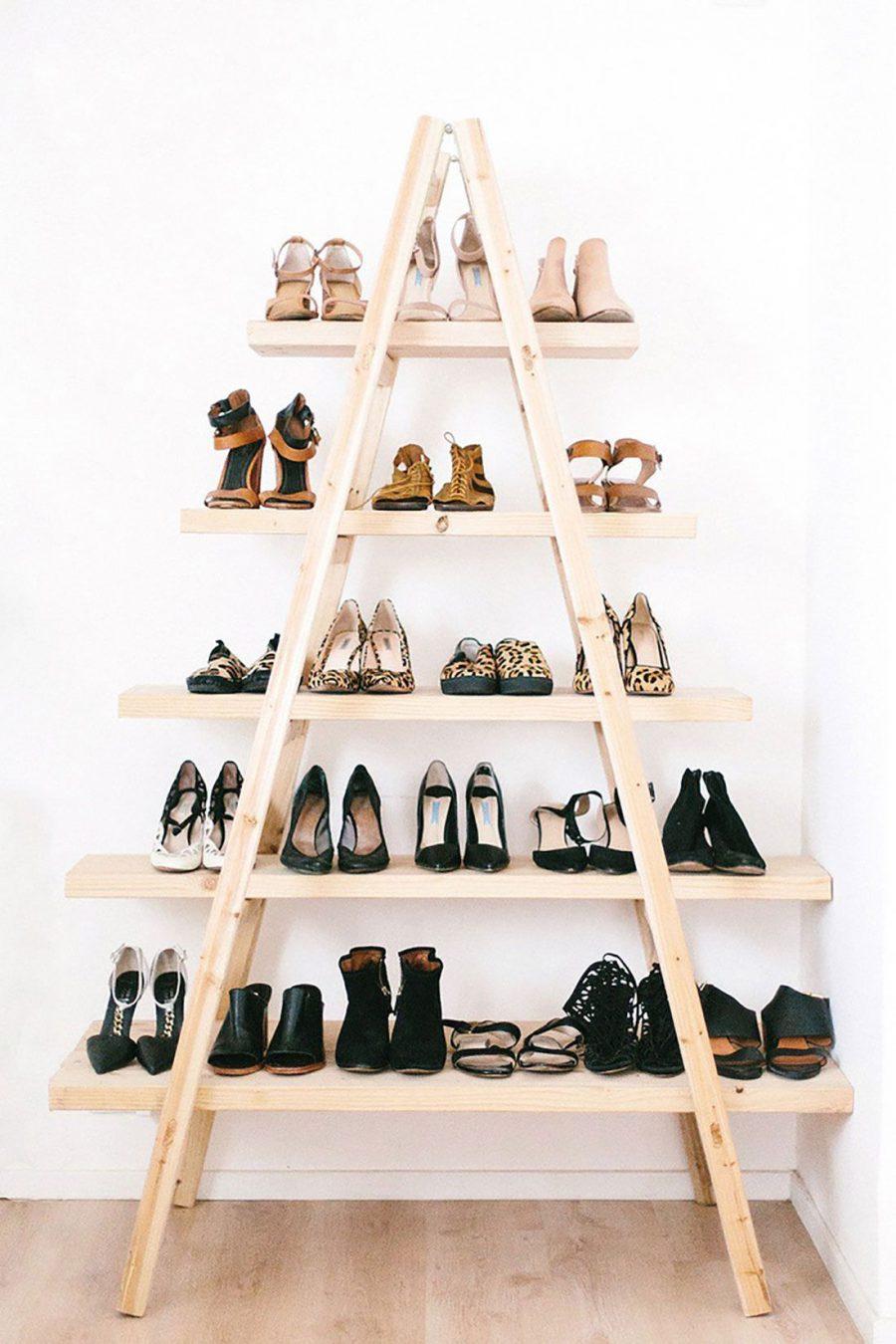Pyramid Shaped Shoe Rack