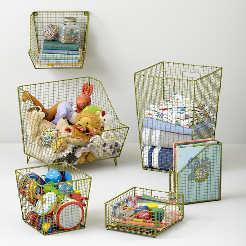 Basket toy storage ideas