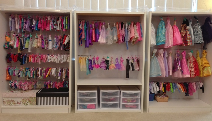 Doll wardrobe toy storage