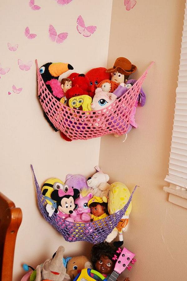 Hanging toy storage ideas