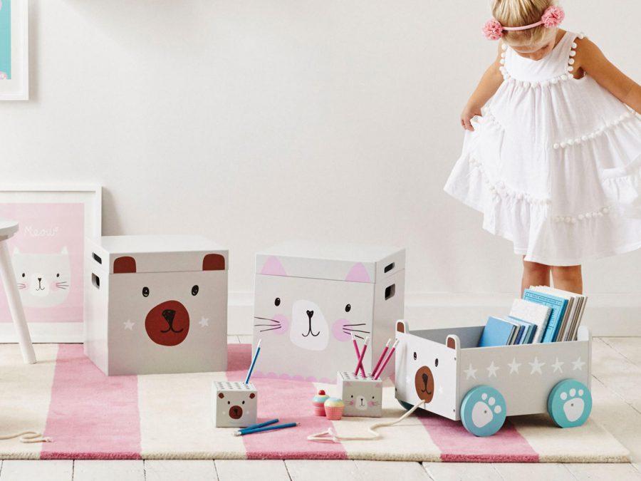 On floor toy storage ideas
