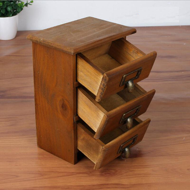 Retro Wood Storage Cabinet