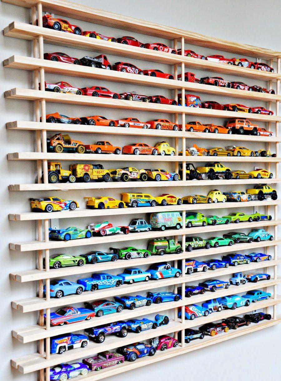 Wall garage toy storage ideas
