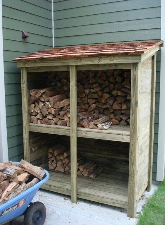 firewood shed storage