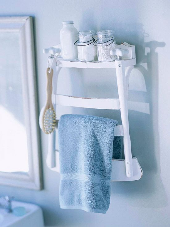 old stool to towel stand