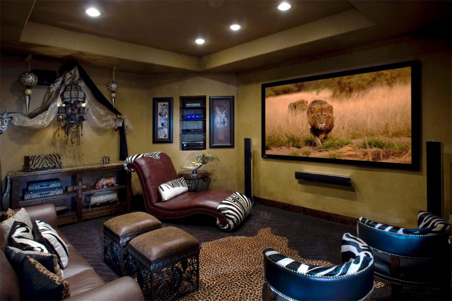 Animal Themed Entertainment Room Design Ideas