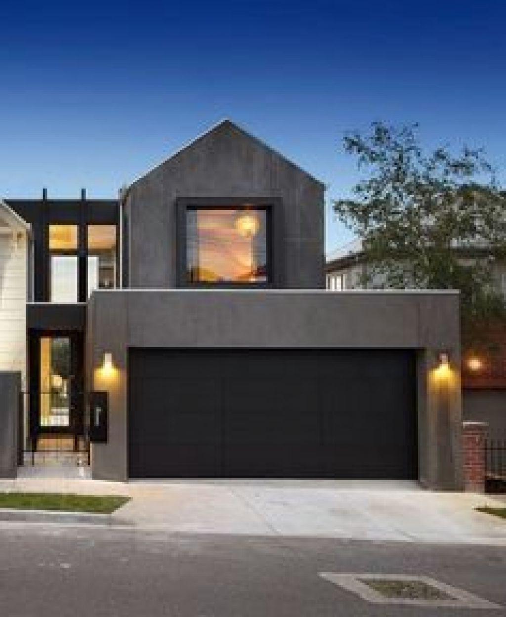 Black Modern Garage Doors