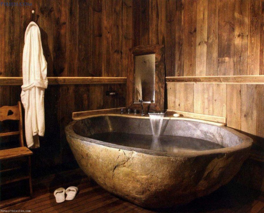 Cool Rustic Bathtub