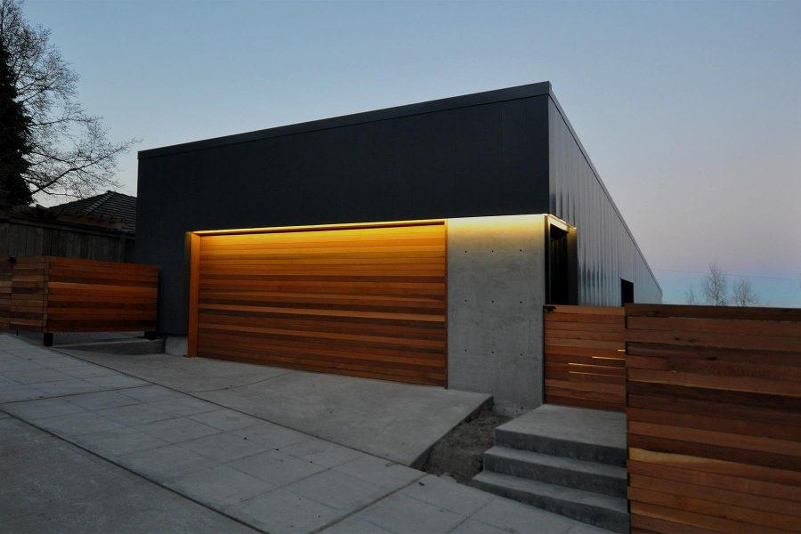 Custom Wood Modern Garage Doors
