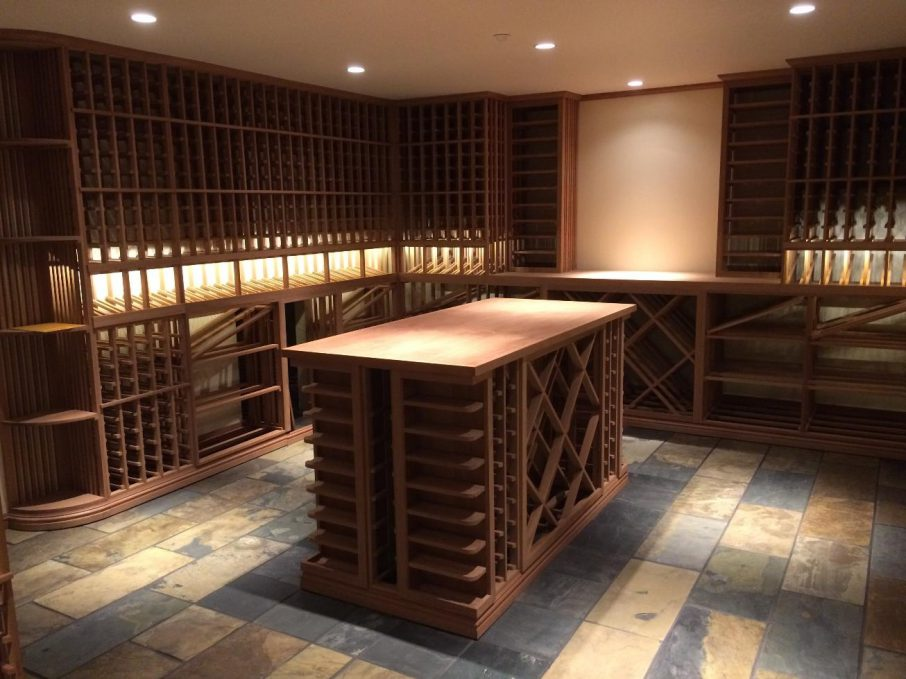 Custom Wood and Metal WIne Cellar
