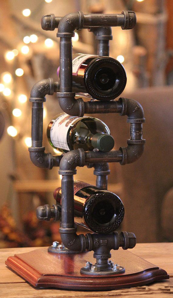 DIY Pipe Stand For Wine Storage