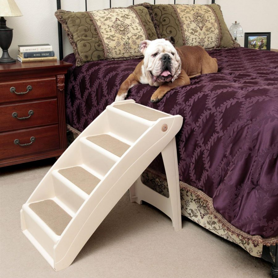 Elevated-Dog-Bed-with-Stairs-Style
