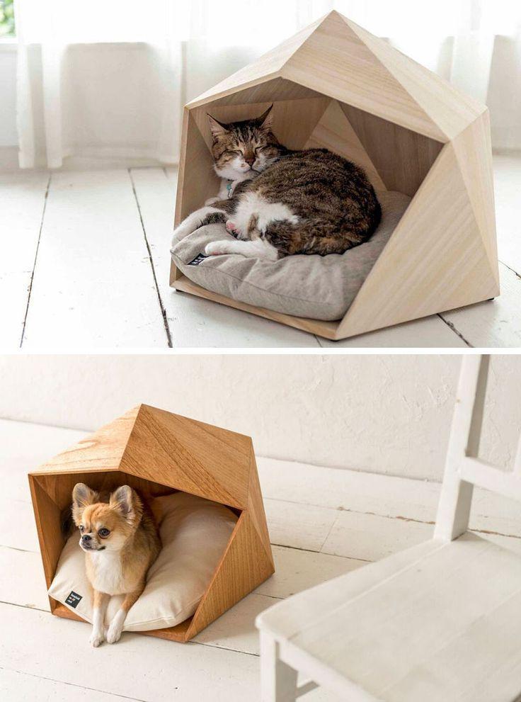 Geometric Pet Bed Ideas