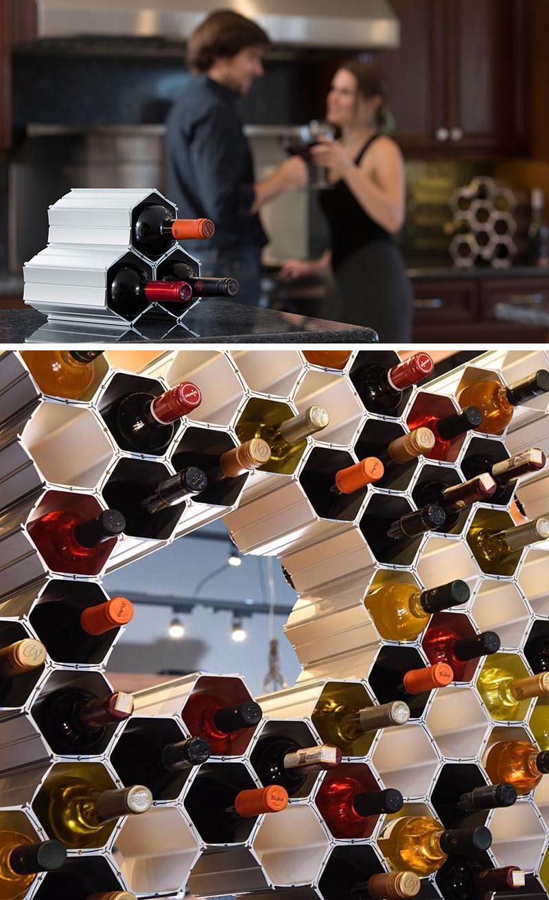 Geometric Wine Storage Ideas