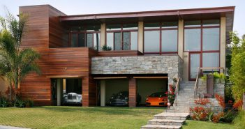 Open Modern Style Garage Doors