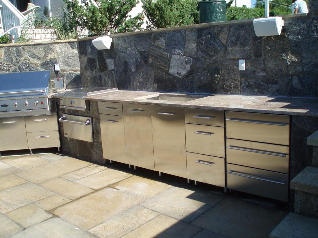 metal outdoor kitchen cabinets 26 mindblowing outdoor kitchen cabinet ideas interiorsherpa 7472