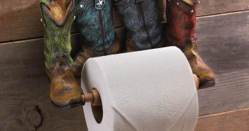 Turn Old Shoe Into Toilet Paper Holder