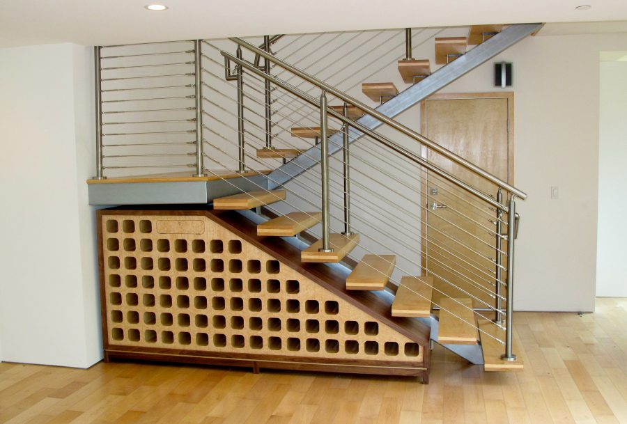 Under Staircase Wine Rack Design