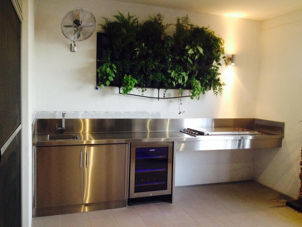 Wheeler Residence Outdoor Kitchen Cabinet
