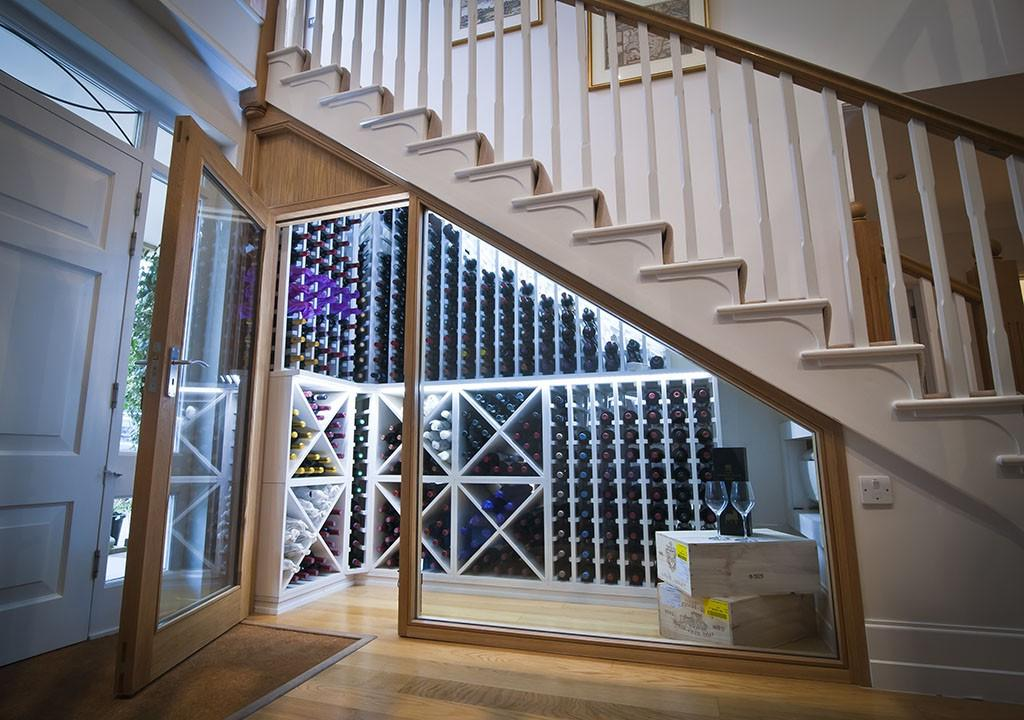 Wine Cellar Design Under Ladder