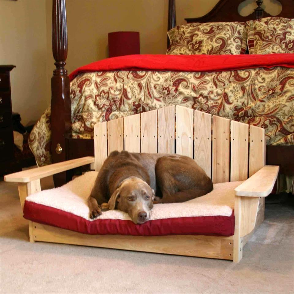 chair style pallet dog bed