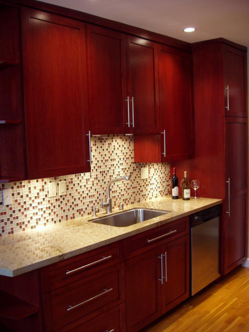 kitchen with cherry cabinets remodeling ideas