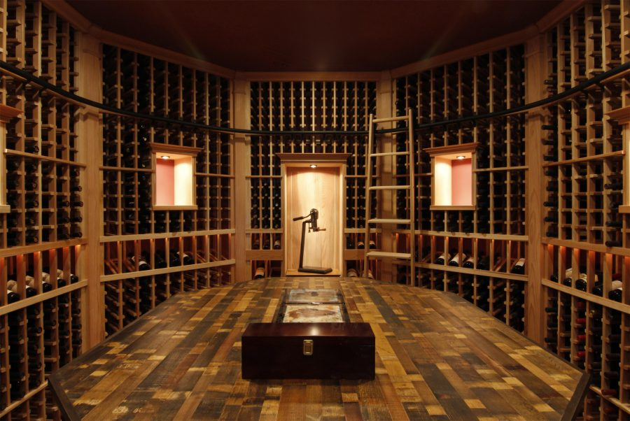 woodway custom wine cellar