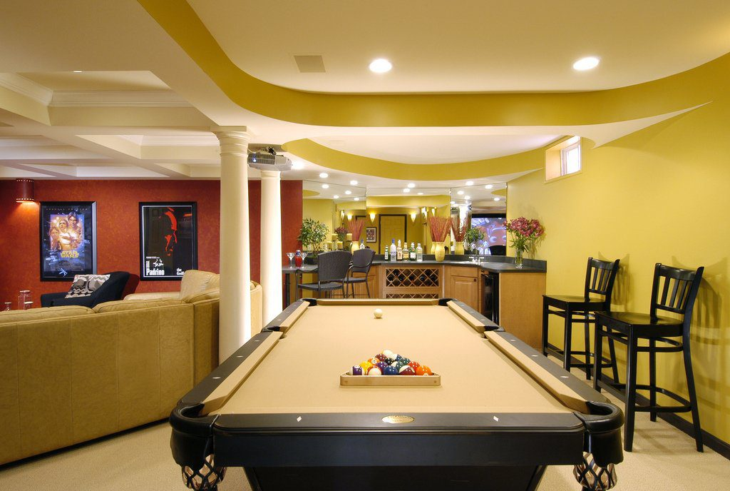 All In One Pool Man Cave Ideas