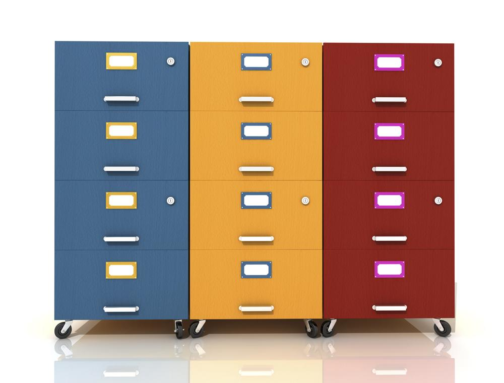 Color Filing Cabinet