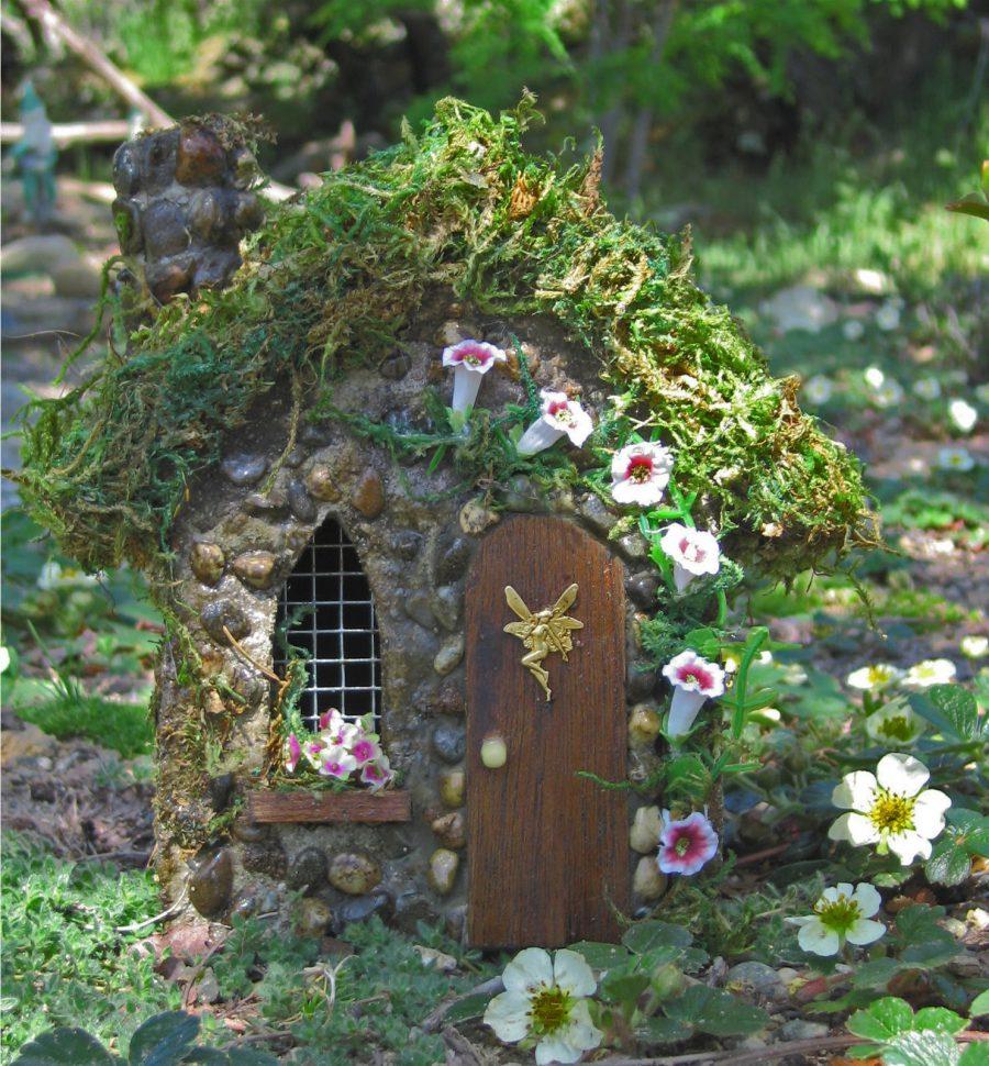 Trumpet Fairy Houses