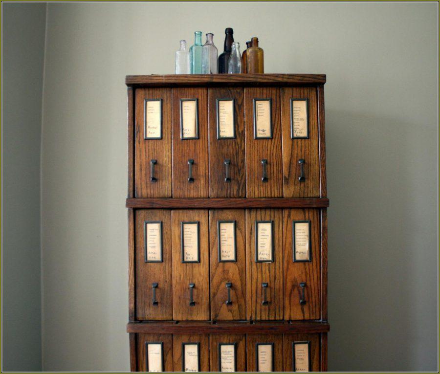 Vintage Medical File Cabinet