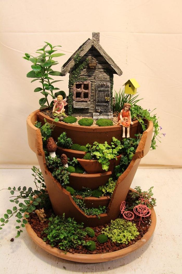 fairy garden ideas in a pot