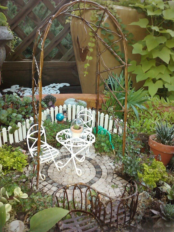 miniature dining with fence
