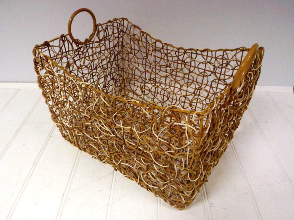 Antique large wicker baskets