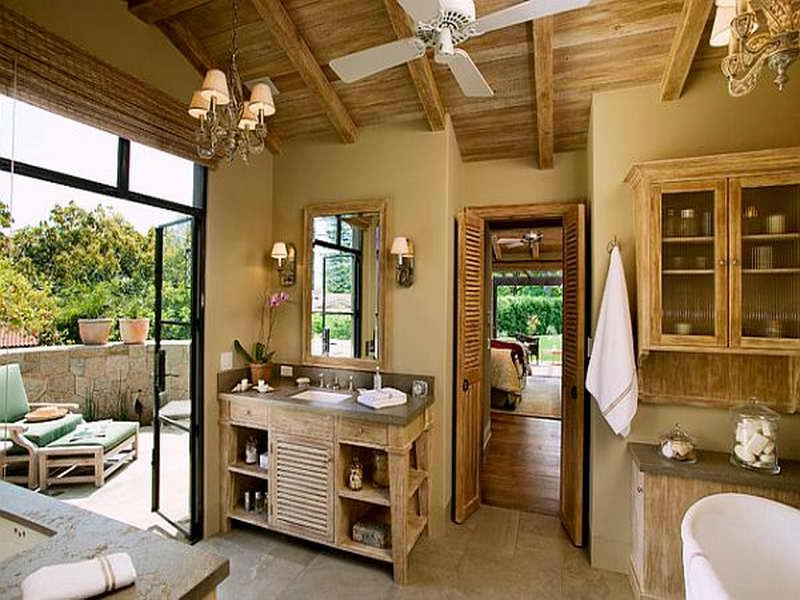 Contemporary Rustic Bathroom Ideas with Earth Toned Colors