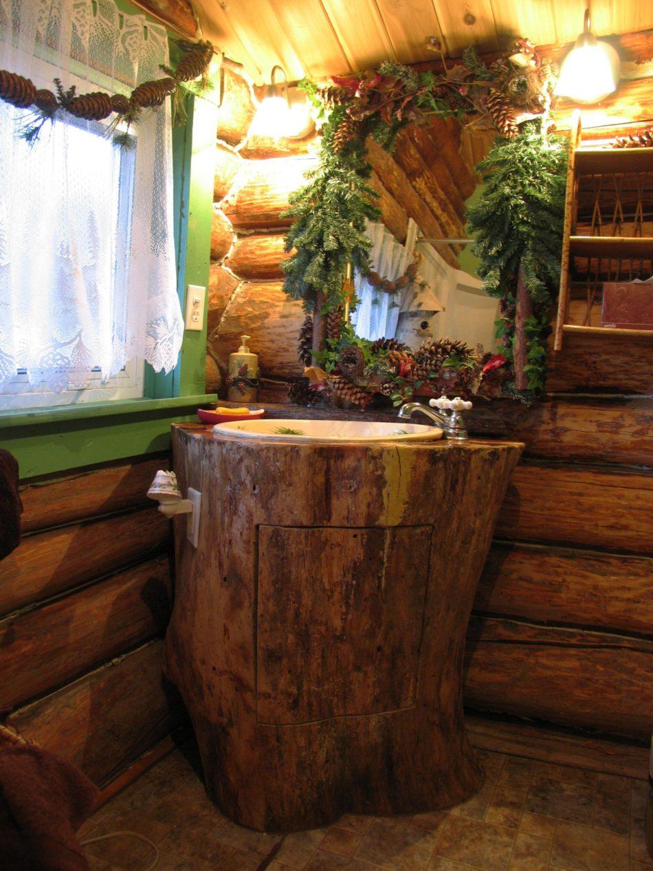 DIY rustic sink for bathroom