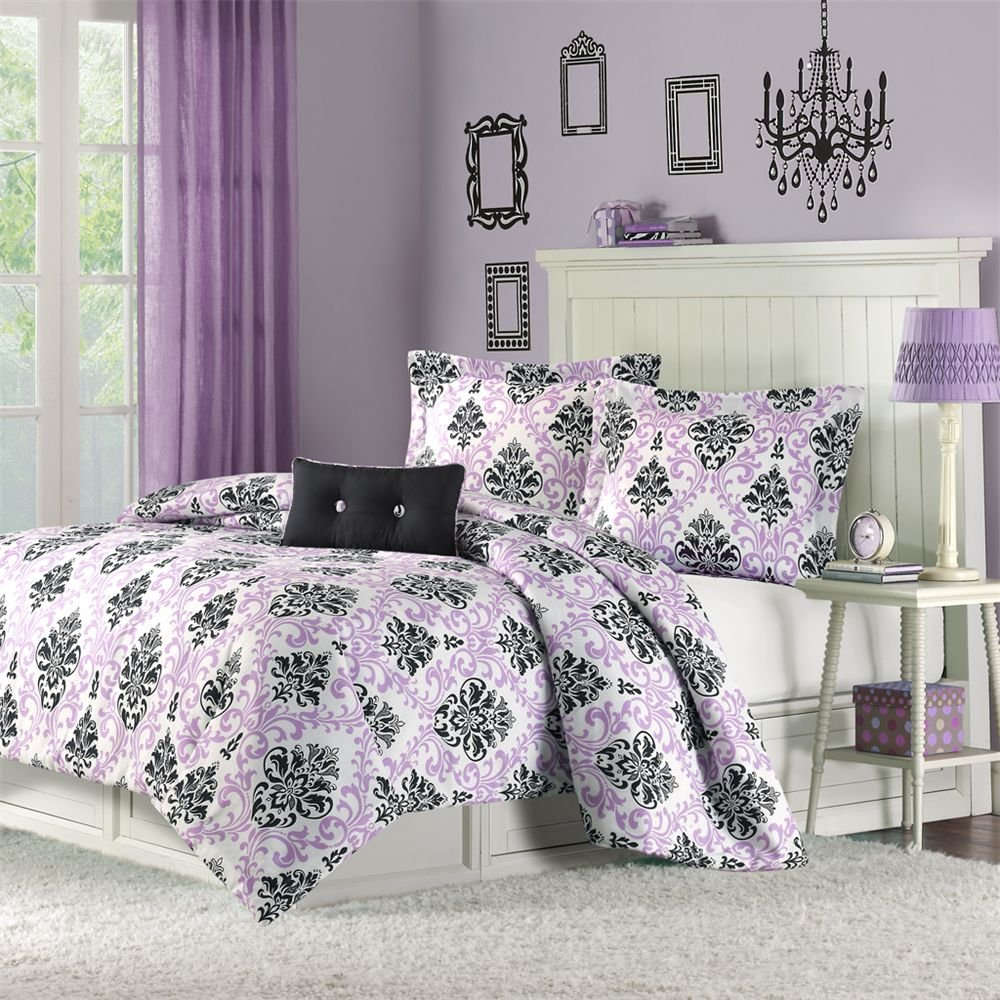 Damask Bedroom Curtains.