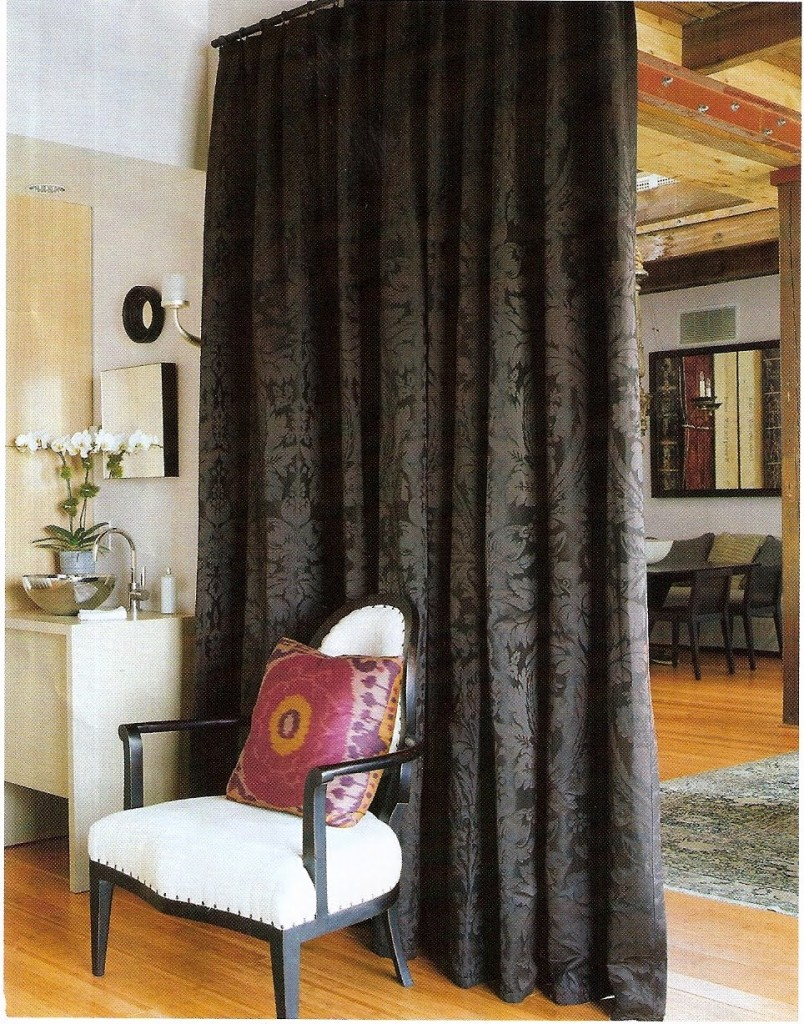 Dividing A Bedroom With Curtains.