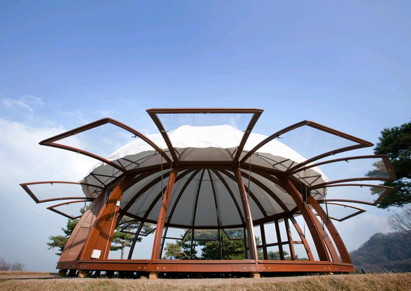 Evergreen Wooden Gazebo With Doors and mosquito nets