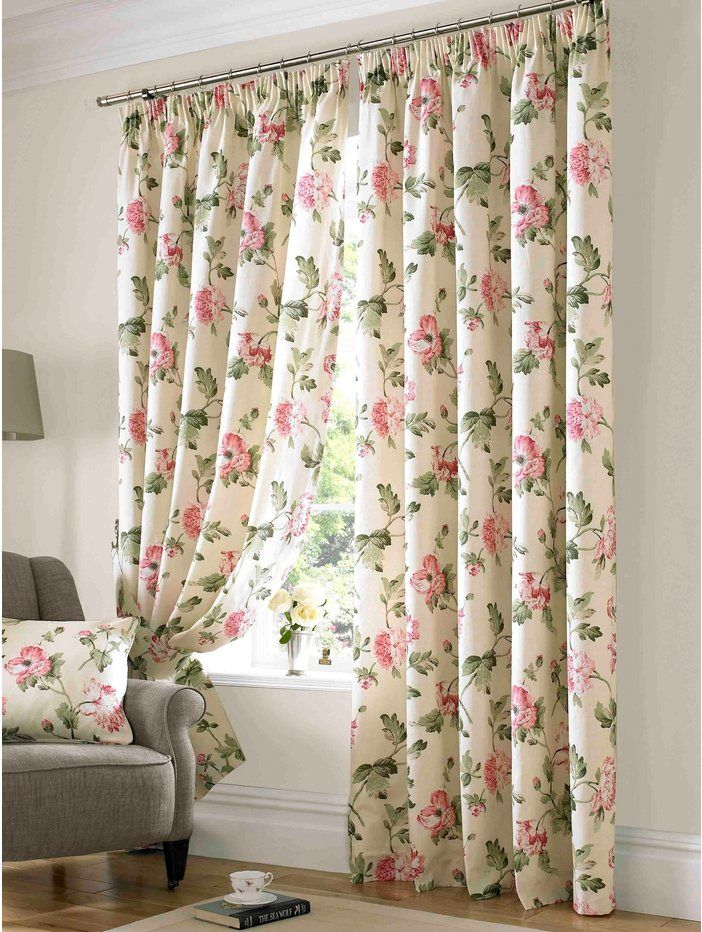 Floral Bedroom Curtains.