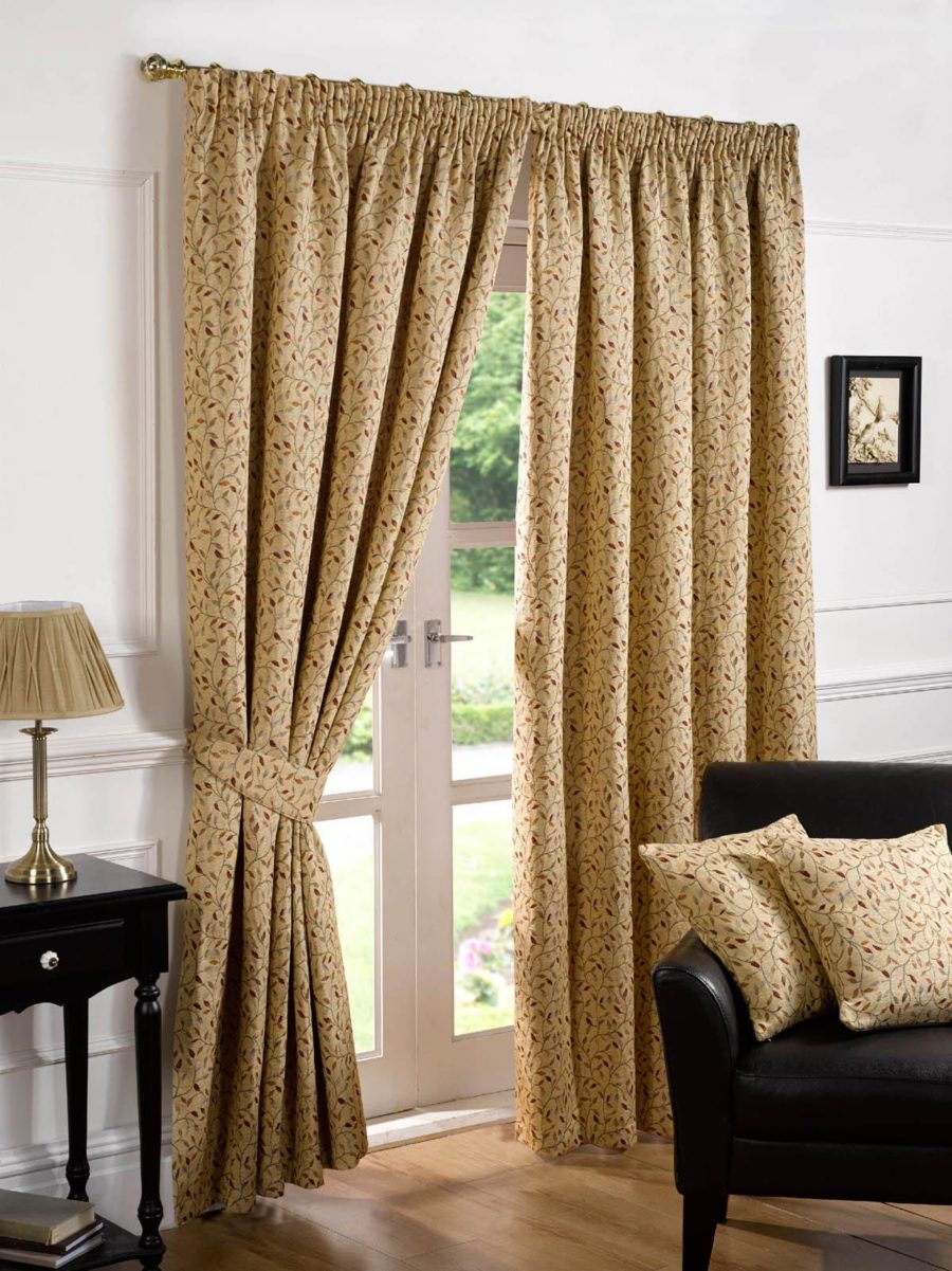 Gold Bedroom Curtains.