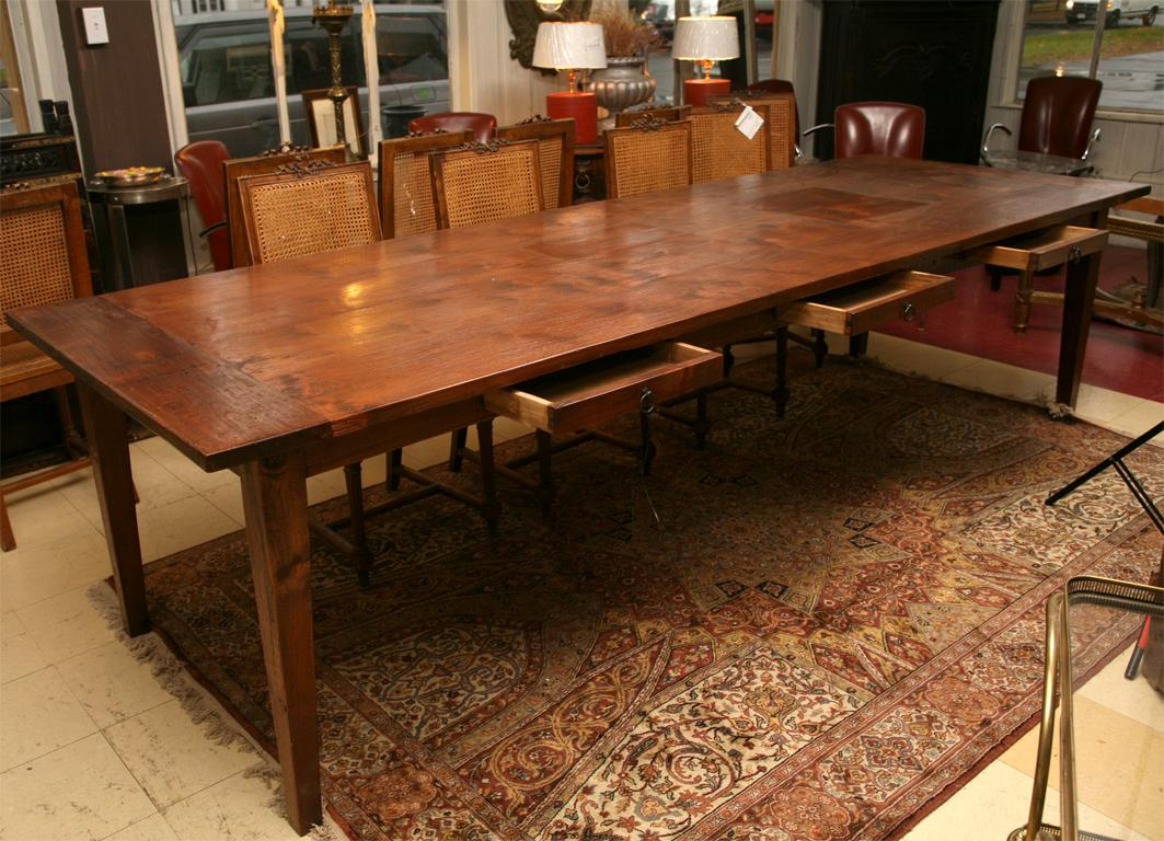 Long Teak Dining Table