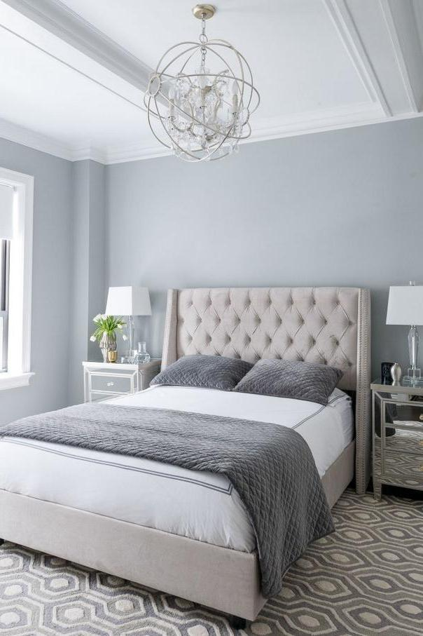 Luxury Bedroom on Grey Tones