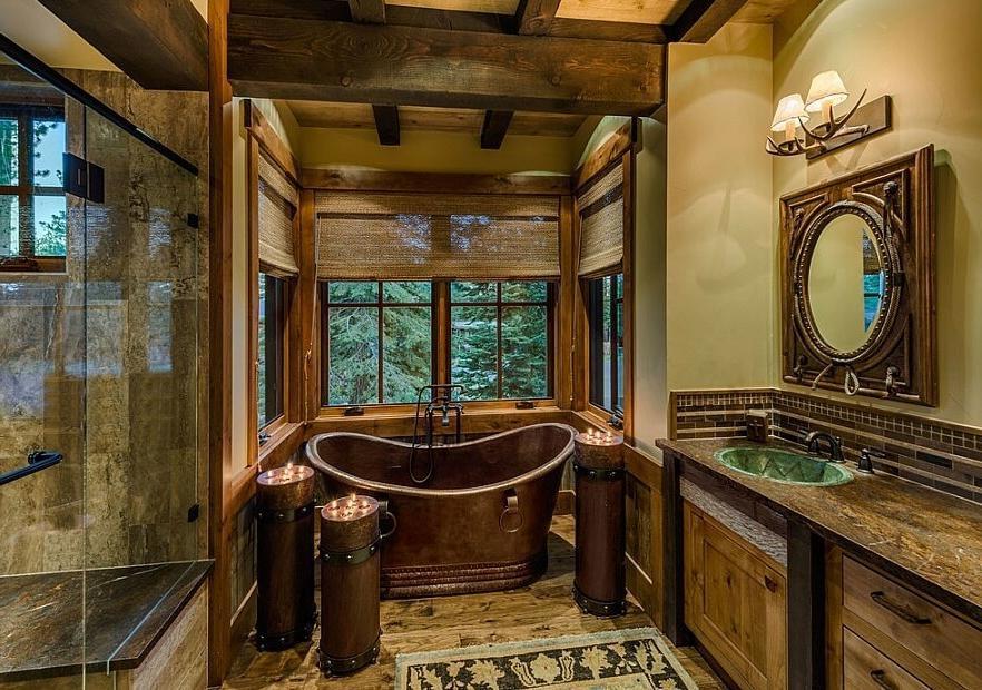 Rustic Cabin Bathroom Decor