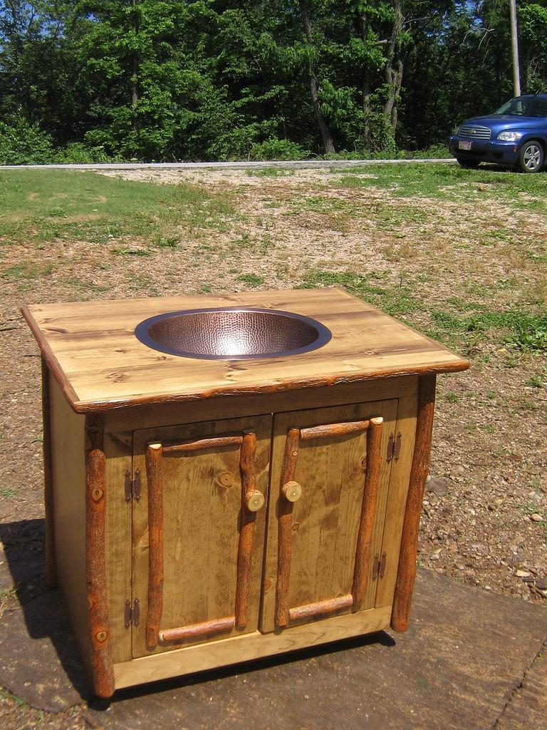 Rustic Outdoor Sink Cabinet
