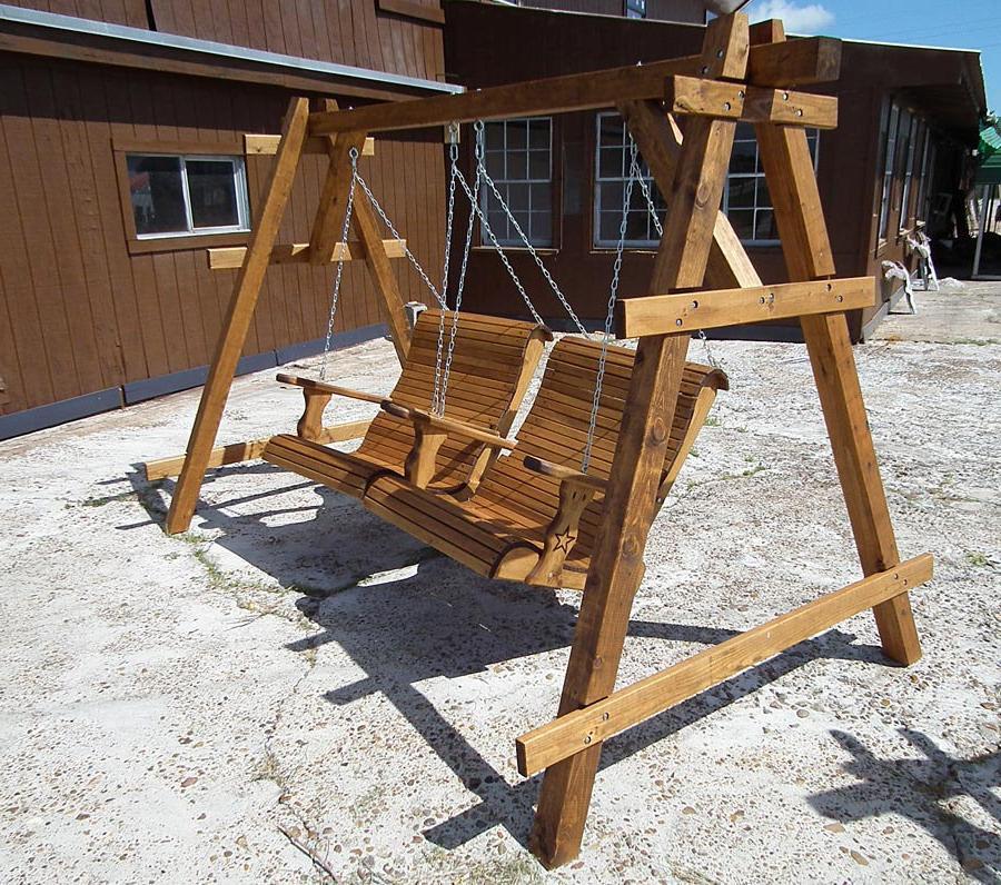 Rustic Outdoor Swing Furniture