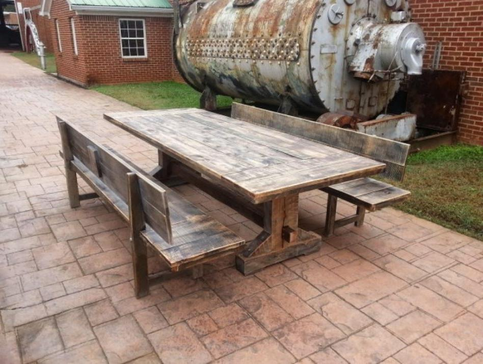 Rustic Pine Dining Set
