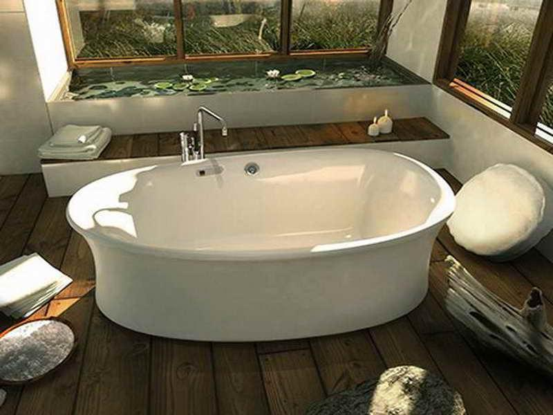 Rustic Style and Small Japanese Soaking Tub