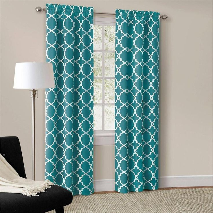 Teal Blue Curtains Bedrooms.